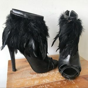 GIVENCHY Feather Cut Out Booties